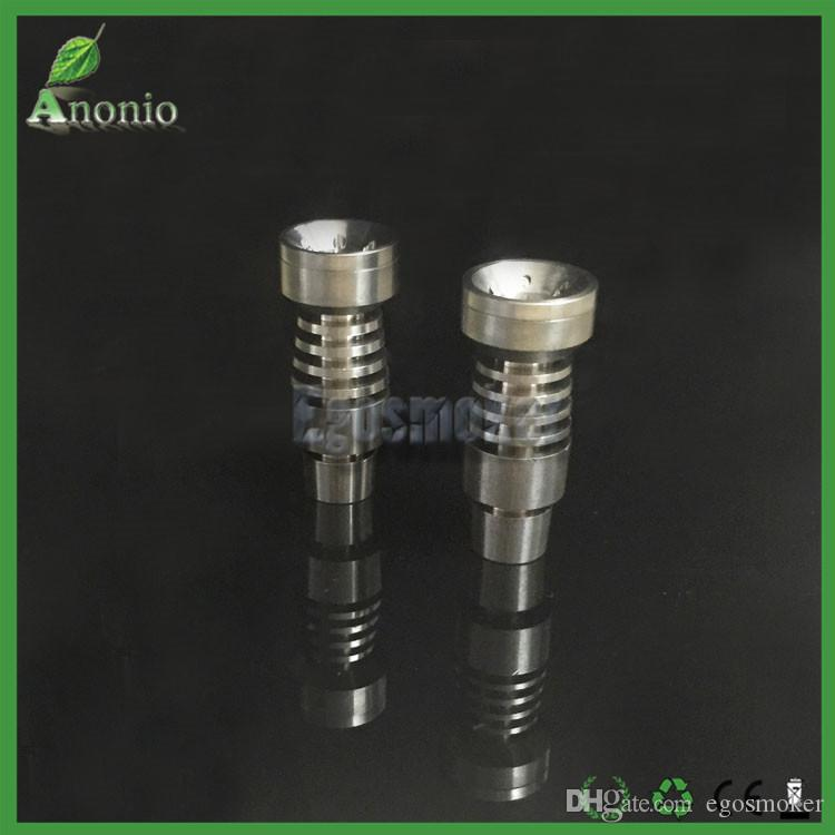 Universal Domeless GR2 Titanium Nail 14mm/18mm Domeless Titanium Nail for water Pipe glass bong Smoking With Big Bowl Male Joint