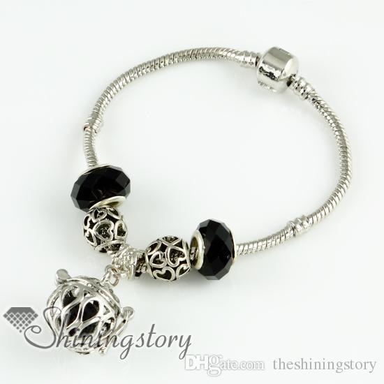 openwork ätherisches Öl Diffusor Armband ätherisches Öl Schmuck Lava Stein Perlen Charme Armbänder