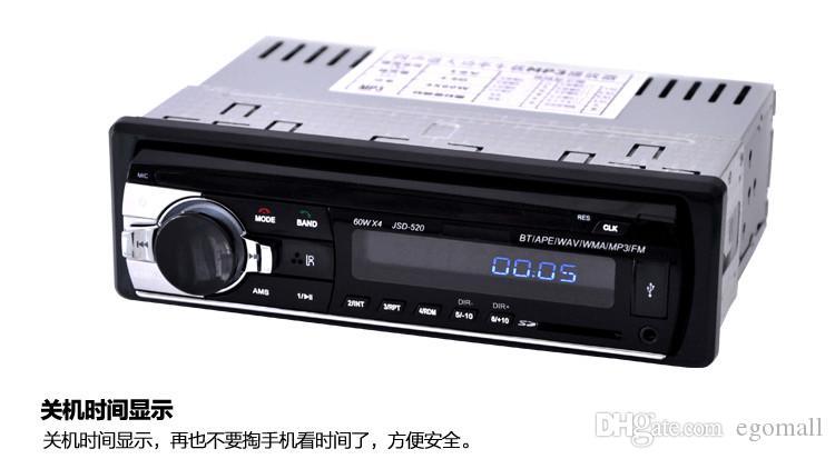 Nuevo 12V Sintonizador de auto Estéreo bluetooth Radio FM Reproductor de audio MP3 Teléfono USB / SD MMC Puerto Radio de auto Sintonizador de bluetooth In-Dash 1 DIN