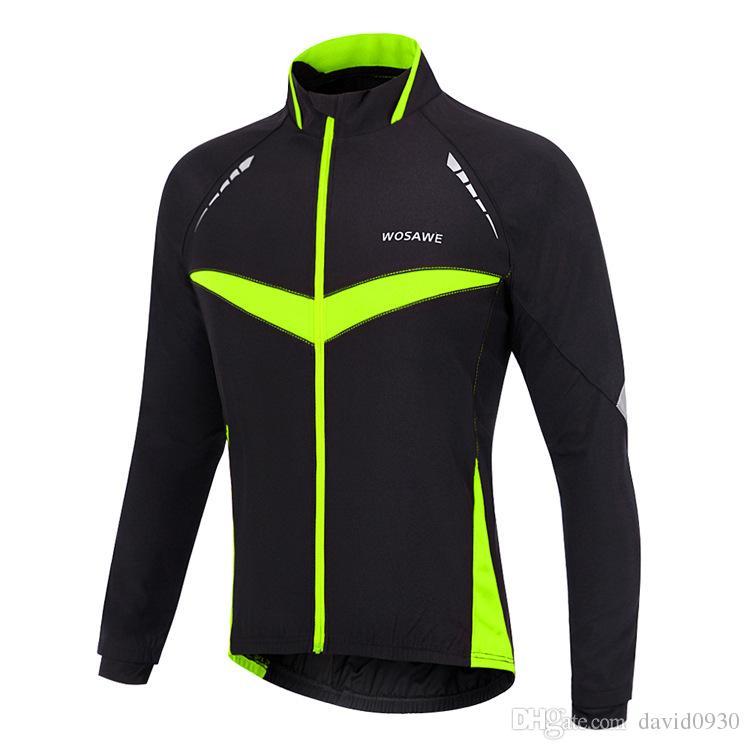 WOSAWE Windproof Waterproof Cycling Jacket Long Sleeve Jersey Winter Autumn  Warm Clothing Cycling Wear Reflective Bike Jackets Hi Viz Cycling Jacket  Cycling ... fa75abd2c