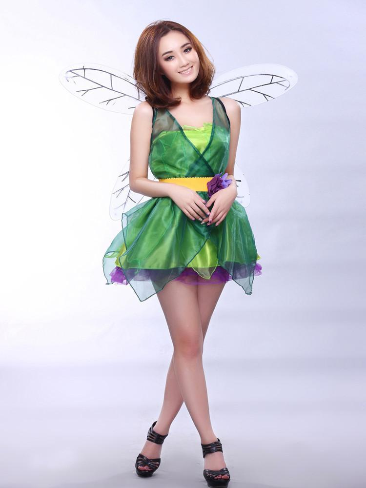 forest green elf costume halloween dress flower fairy princess dress drag queen dress party photography show scary halloween costume costume party themes - Green Halloween Dress