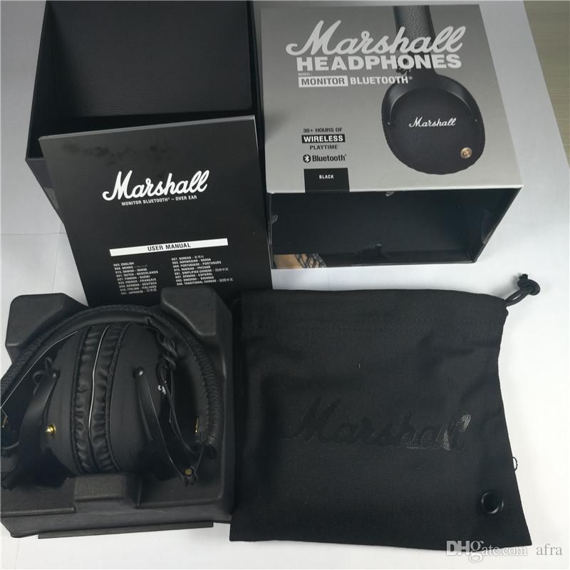 Marshall Monitor Bluetooth Casco de audio inalámbrico en los auriculares inalámbricos de oreja - Negro