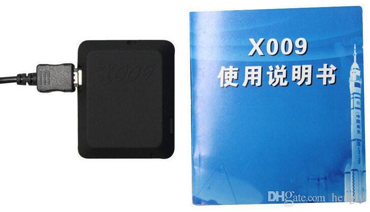 Nueva X009 Cámara Monitor Video Recorder SOS GPS DV GSM cámara 850/900/1800 / 1900MHz Soporte de tarjeta TF