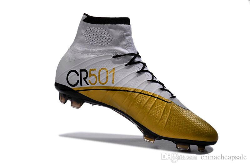 c621d88d4f3 nike mercurial superfly fg mens soccer cleats silver black gold  2016 new  fashion white gold high ankle cr7 soccer shoes with acc for mens tops  quality