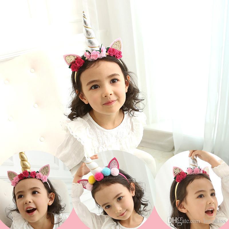 Hot Sale Christmas Unicorn Children Hair Sticks Birthday Party