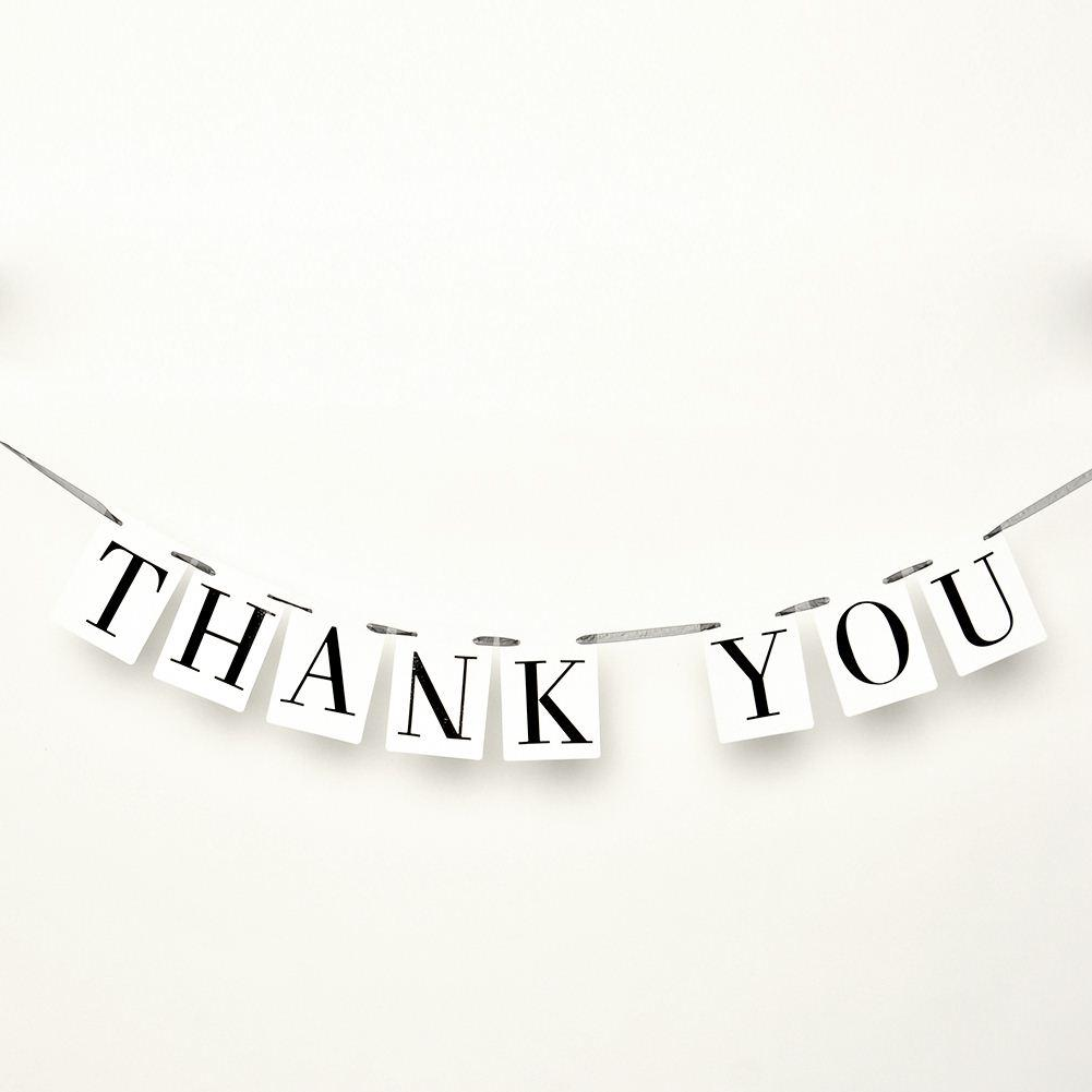 شكرا لك بطاقة زفاف راية الزفاف تسجيل متزوج صور الدعامة الزفاف حفلة خطوبة الديكور خمر ، الهندباء