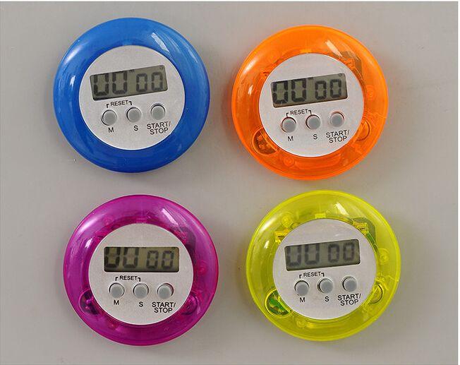 Novidade digital temporizador de cozinha Auxiliar de cozinha Mini LCD Digital Kitchen Count Down Clipe Temporizador Alarme atacado