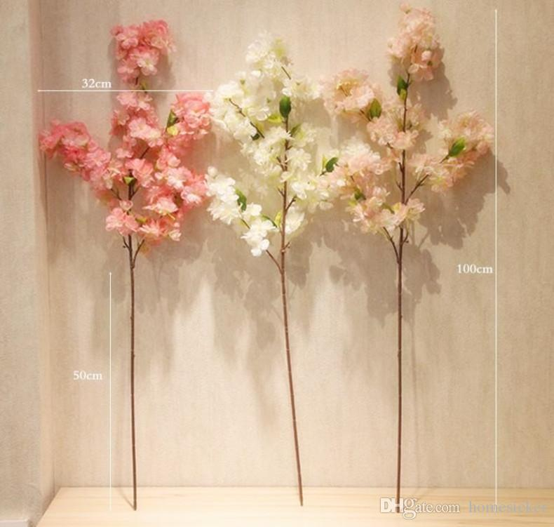 Quatre branches chaque bouquet de simulation fleur de cerisier 1 m 39