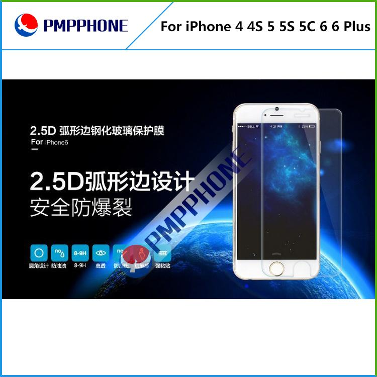 Dla iPhone 4 4S 5 5S 5C 6 / 6P Samsung S3 S4 S5 Note2 Note3 Note4 Premium Real Harted Glass Film Screen Protector