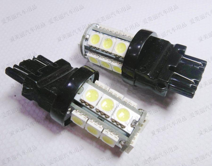 Hotsale 10 pz 18 Led 5050 18SMD 7440 7443 3156 3157 luci retromarcia led luce veicolo auto LED Auto Indicatore di direzione lampada freno segnale lampadina