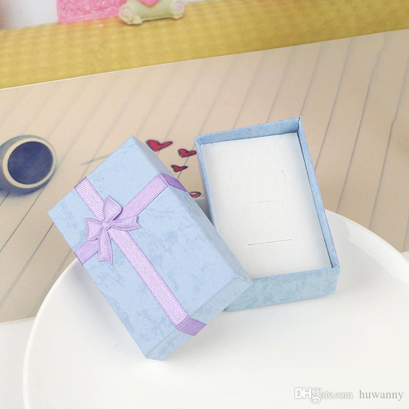 Jewelry Gift Boxes 5*8*2.5cm Necklace Rings Earrings Packing Box Cajas De Regalo for Christmas New Year Wholesale 0655WH