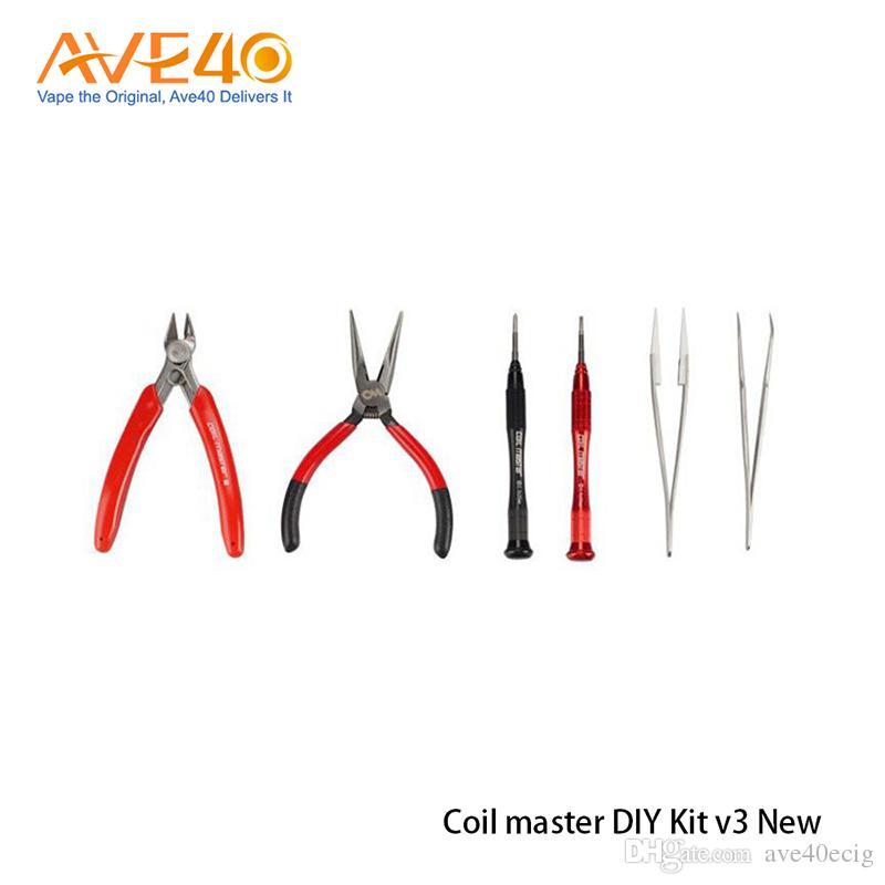 Original Coil Master DIY KIT V3 Neue Spule Master Tool Kit 2,0 Für RDA RBA Zerstäuber Wiederaufbau Vape Mod