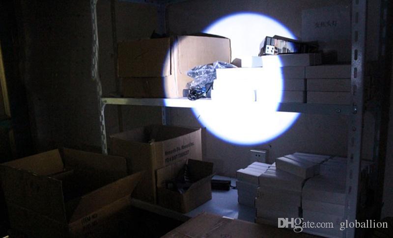 Round Moon Shape Light Aluminium Alloy Mini Flashlight XML Cree Led Flashlight Torch High Power Led keychain With portable tail - S818