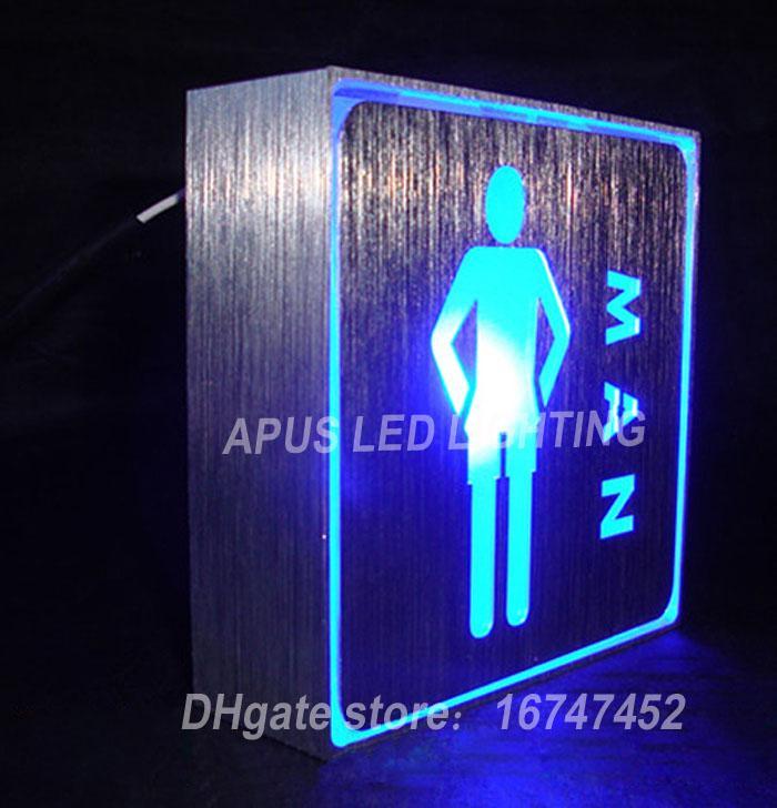 85-265 فولت أضواء led مؤشر النيون مربع الاتجاه اتجاه مربع مؤشر led مجلس الإضاءة نمط wifi مرحاض الذكور القهوة شحن مجاني