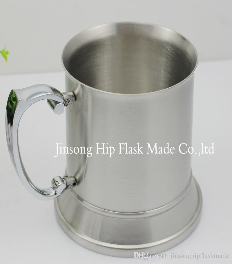 16 ounce Double Wall Stainless Steel Tankard ,beer mug, high quality , Mirror finish