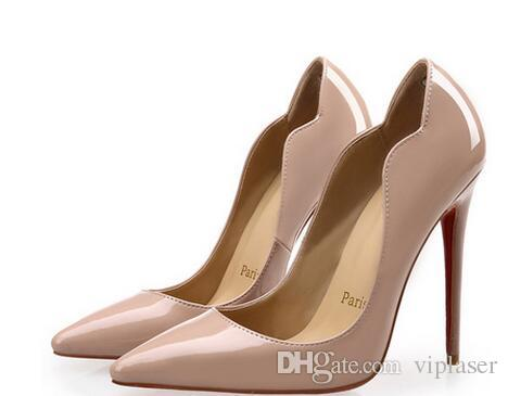 256e9e77d206 LWomen Shoes Red Bottom High Heels Sexy Pumps Shoes For Women Patent  Leather Pointed Toe High Heels Wedding Shoes Check out Our Website for Cheap  Trainers ...