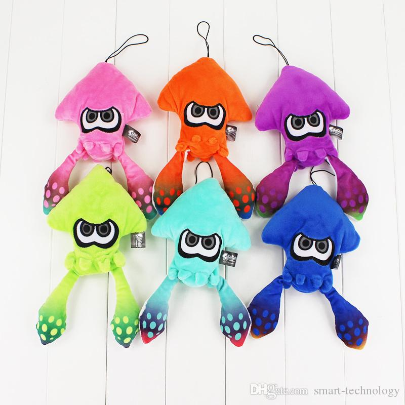 6pcs/lot 25cm Splatoon Inkling Plush cartoon Doll Toy Squid stuffed Lime green animal doll Pendant cute Christmas gift for kids