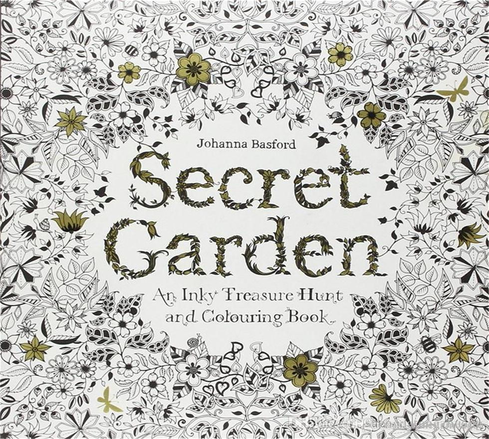 Hot Secret Garden An Inky Treasure Hunt And Coloring Book Adult Children Painting A Set Eq 1 Add Color Pencil Ing Books For Free