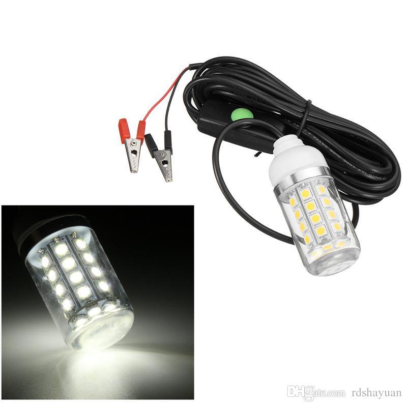 12V 108LED 전구 수 중 잠수정 야간 낚시 빛 그늘 미끼 미끼 오징어 보트 램프 W / 5m IP67 방수 램프 새로운