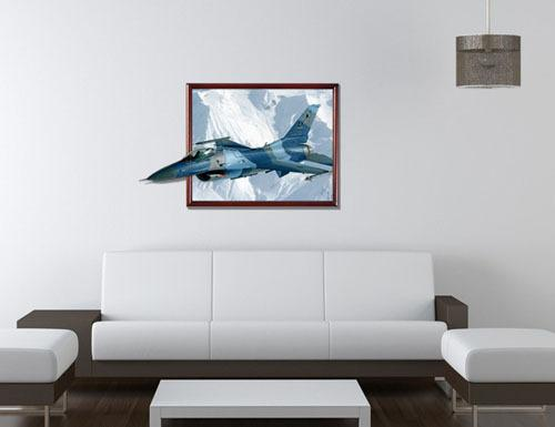 Removable Wall Art f16 fighter plane 3d wall art stickers removable wall decals vinyl
