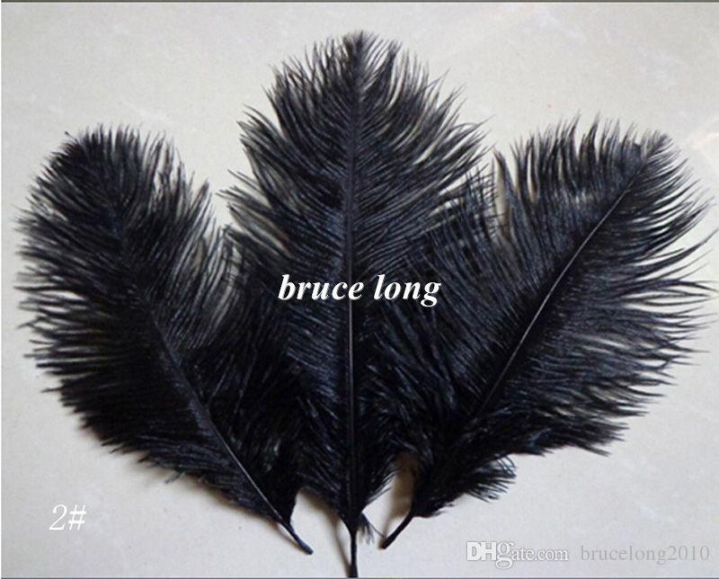 Plumas plumas de avestruz blanco negro avestruz plumas mullidas avestruz trim boa boda decoración del partido etapa diy pluma 6-8