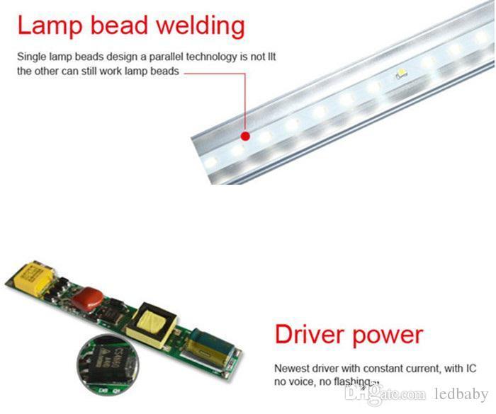 8FT Pin único llevó luces Tubo T8 45W FA8 Tubos Led Luz Super brillante 192LEDs SMD2835 4800LM CA 85-265V + Garantía 3 años