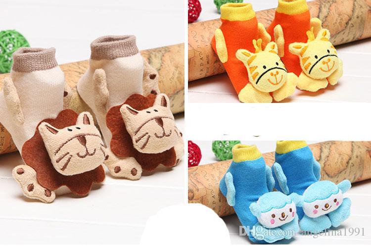 Lovely baby socks booties 100% cotton Baby cartoon 3D terry socks infant kids towel socks new born socks mixed style