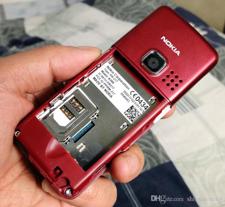 الأصلي تم تجديده الهاتف نوكيا 6300 الهاتف الخليوي مقفلة TFT، 16 متر الألوان لوحة المفاتيح الروسية لوحة المفاتيح الإنجليزية أرخص الهاتف