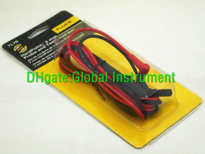 Juego de cables de prueba de punto duro Fluke TL75 Sondas de medidor Embalaje original ¡NUEVO en CAJA!