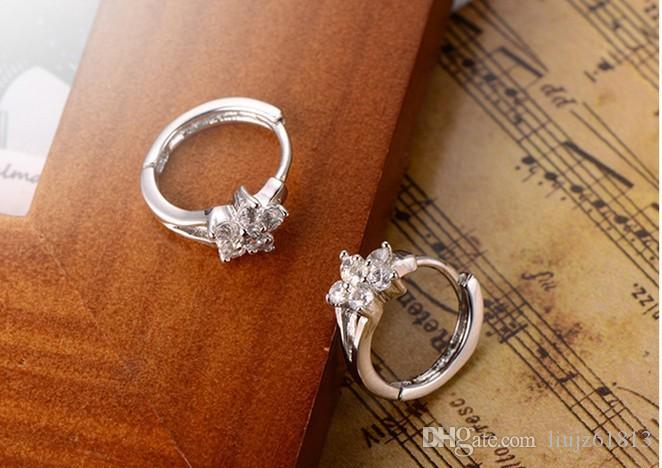 Top grade 925 silver hoop earrings for women fashion earring anti-allergic silver jewelry