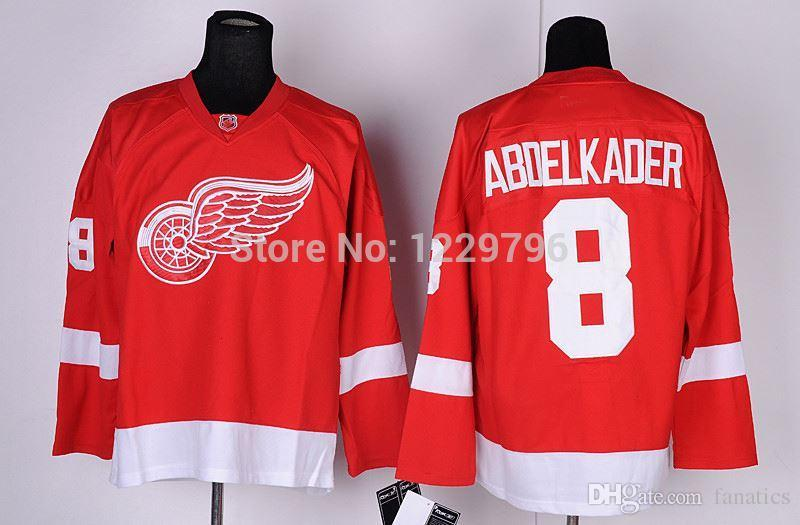 baa7686b0c6 2016 Free Shipping Detroit Red Wings Ice Hockey Jerseys Justin Abdelkader  Jersey Home Red White #8 Stitched Jerseys Discount