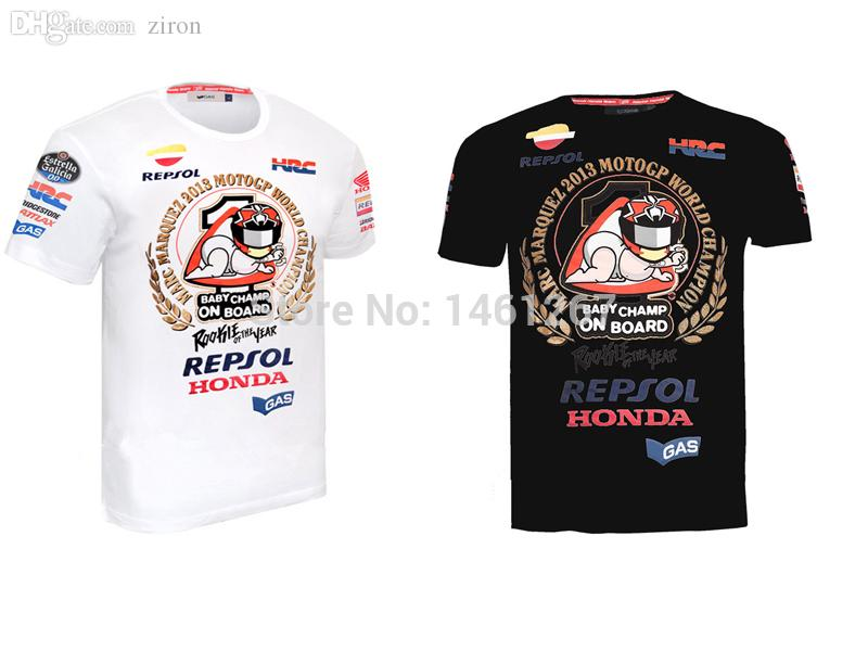 2018 Wholesale Marc Marquez 93 Motogp Black T Shirt Men Custom Moto Gp Motorcycle Racing Sports ...