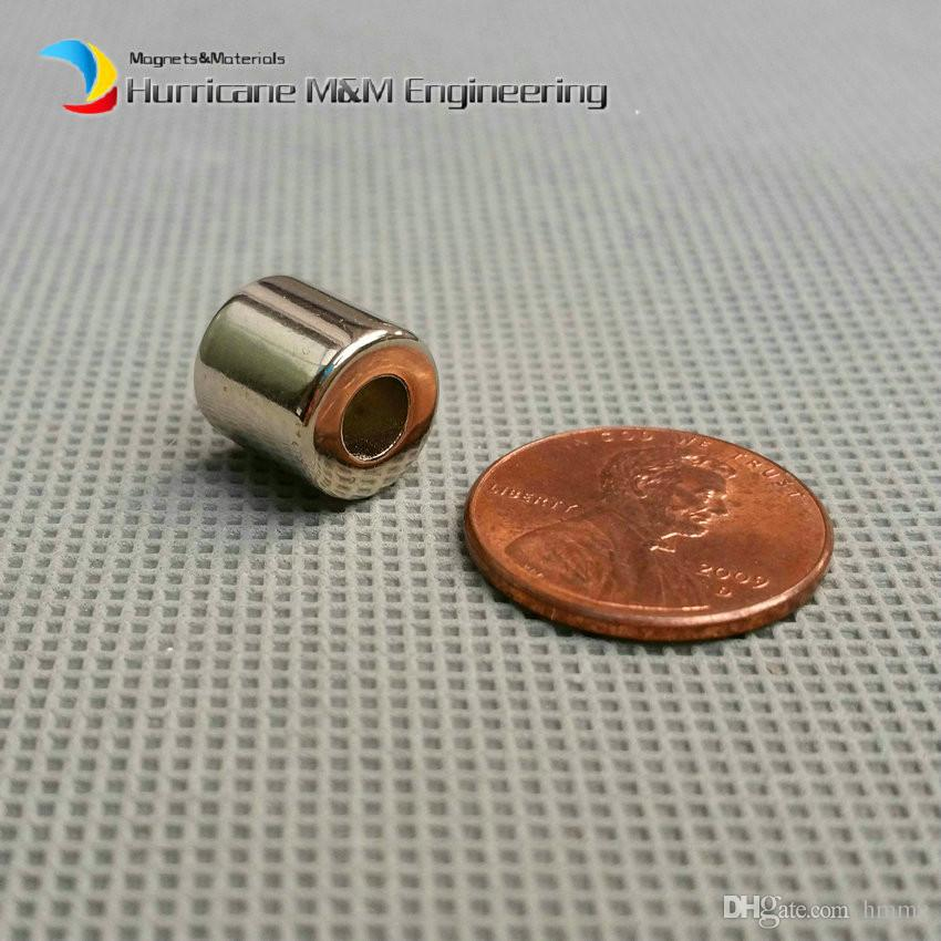 1 Pack NdFeB Magnet Ring OD 10x4x10 mm Diameter 0.39'' Round Strong Magnets Axially Magnetized NiCuNi Coated Rare Earth Magnets