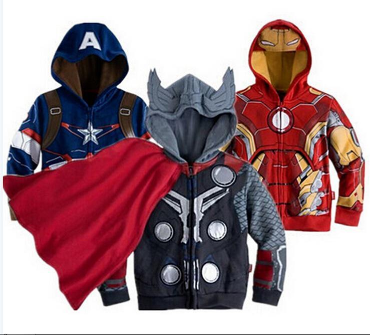 347cc18bc7c7 2019 Avengers Iron Man Children Sweatshirt Jacket Coat