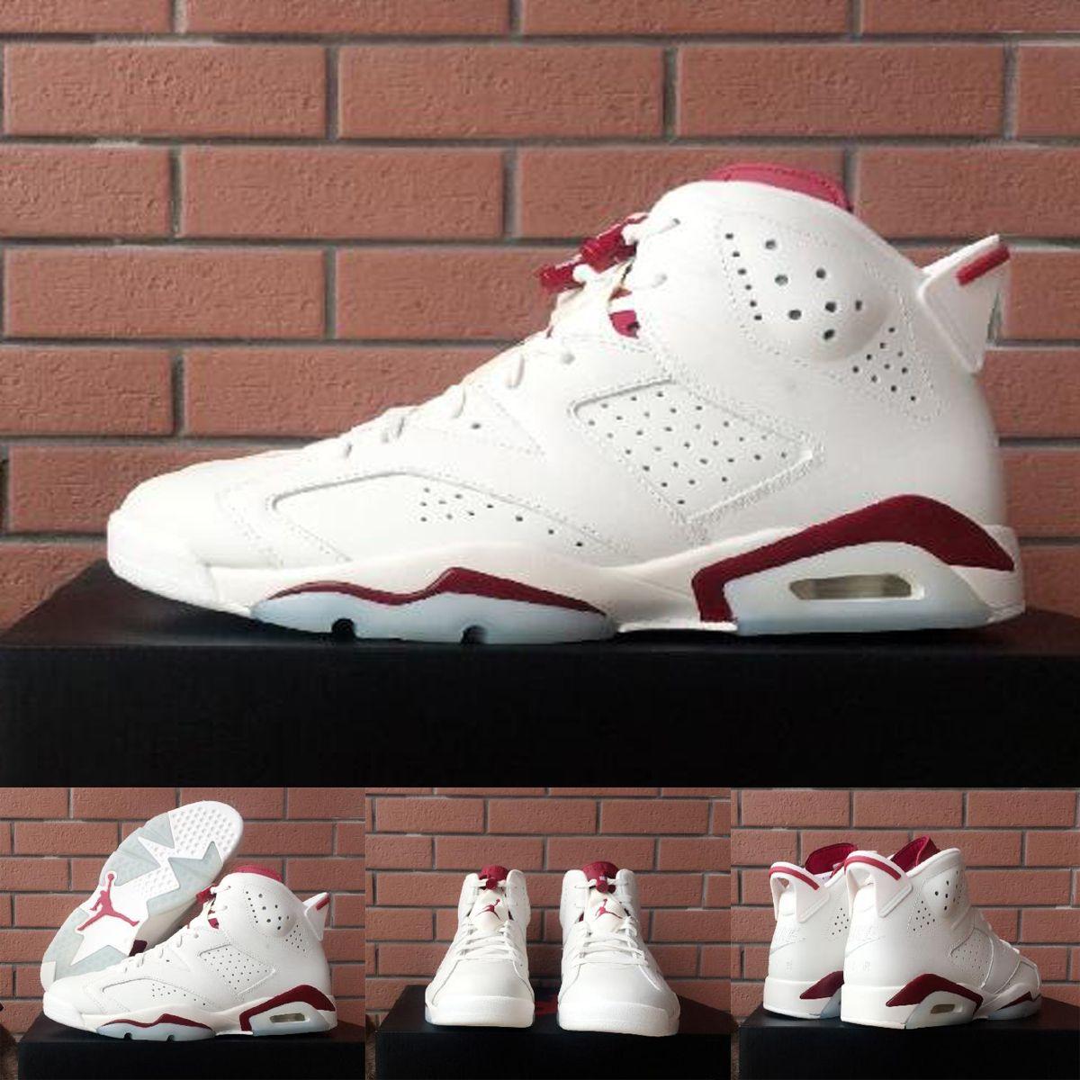 new products a8666 814fd Nike Air Jordan 6 Vi Retro Maroon Off White Infrared Mens Womens Basketball  Shoes,100% Original Quality Jordan6 Aj6 For Men Women Sneakers Shoes Men ...