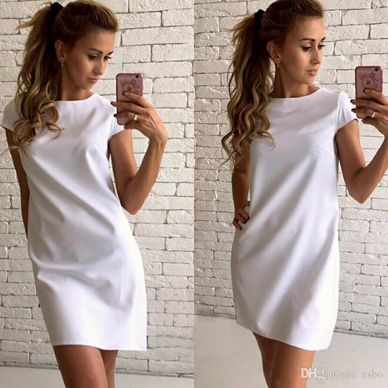 430926b98d Wholesale Fashion A Party Dresses For Womens Plus Size Clothing Loose Fit  Bodycon Temperamental Ladies Dresses Ladies Club Dresses GZQZ1 F Long  Sleeve White ...