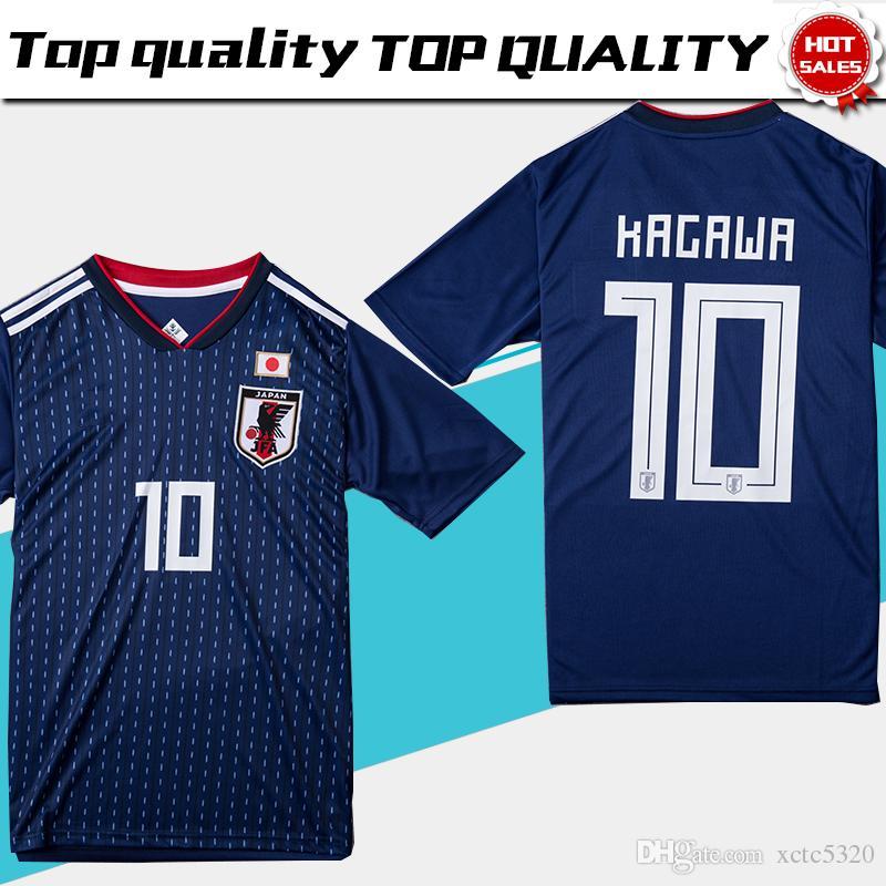 Acheter Coupe Du Monde 2018 Japon Soccer Jersey 2018 Japon Accueil Bleu  Football Maillot   10 KAGAWA   9 OKAZAKI   4 HONDA Uniforme Du Football  Coupe Du ... 44a2fe965