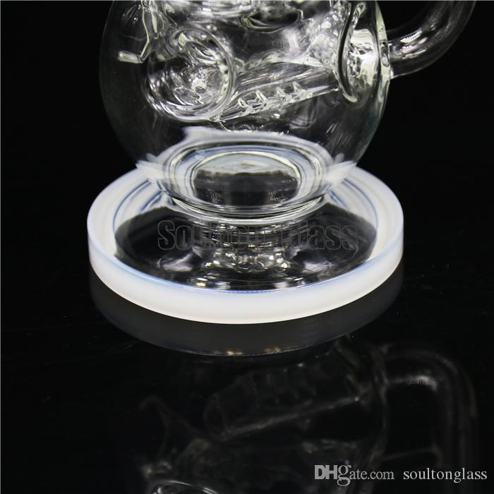 Soulton Glass wholesale High Tech Glass works Clear Swiss Perc bongs Faberge Egg Cheese Baby Bottle Rig Bong pipes BO-038