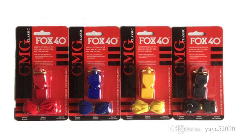 Cosplay partei FOX40 spielzeug Pfeife Kunststoff FOX 40 Fußball Fußball Basketball Hockey Baseball Sport Klassischen Schiedsrichter Whistle Survival Outdoor
