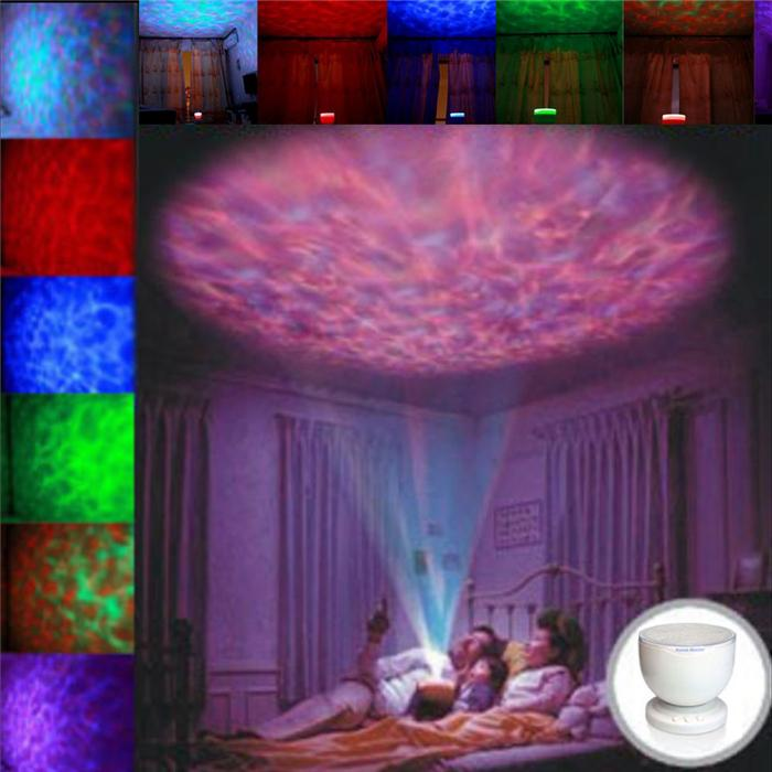 discount indoor colorful led night lights projector ocean da