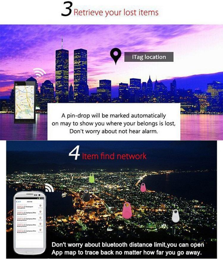 Buscador de teclas inteligentes rastreador de bluetooth rastreador anti perdida niño rastreador Control remoto Selfie para iPhone IOS Android tecla ITags diseño personalizado