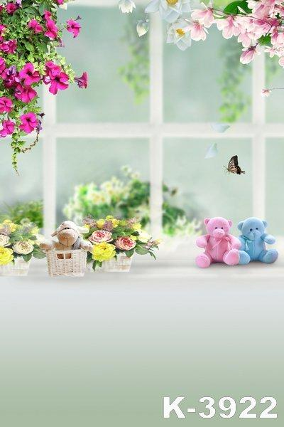 Wholesale Custom Window Scenic Children Photos Background