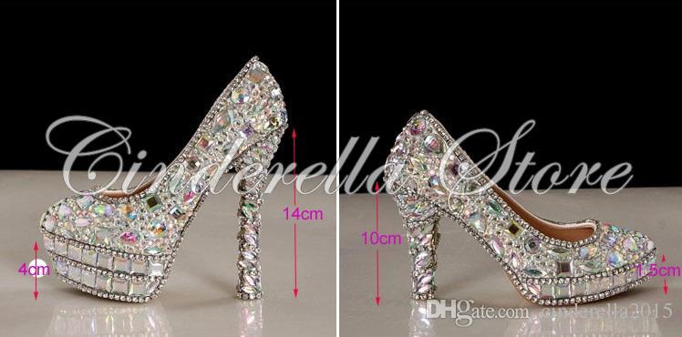 nouveau cristal strass Brillant haut talon femme dame femmes soirée nuptiale de bal d'étudiants parti club bar mariage chaussures de demoiselle d'honneur