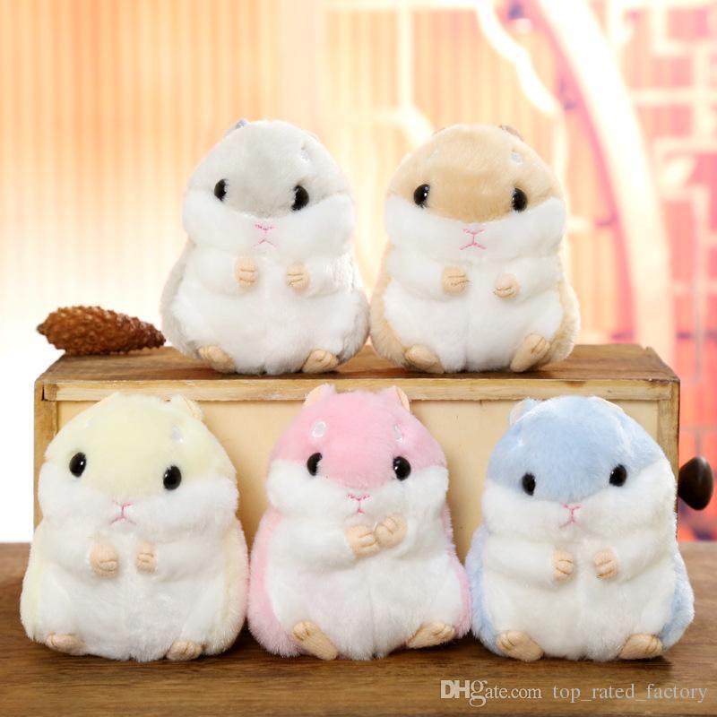 Mulheres Mini Hamster Fur Pompom Chaveiro Fofo Chaveiro Para Bugigangas Do Carro chaveiro Faux Coelho Monstro Pom Pom Chaveiros Presente