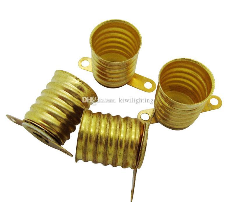 Copper Alloy E10 Lampa Base Holder do śruby 12 V Lampy Lampy Lampy Lampy