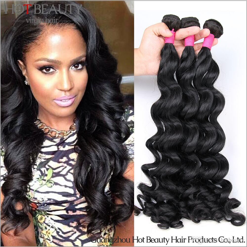 2016 Brazilian Virgin Hair Loose Curlyremy Human Hair Weave Bundles