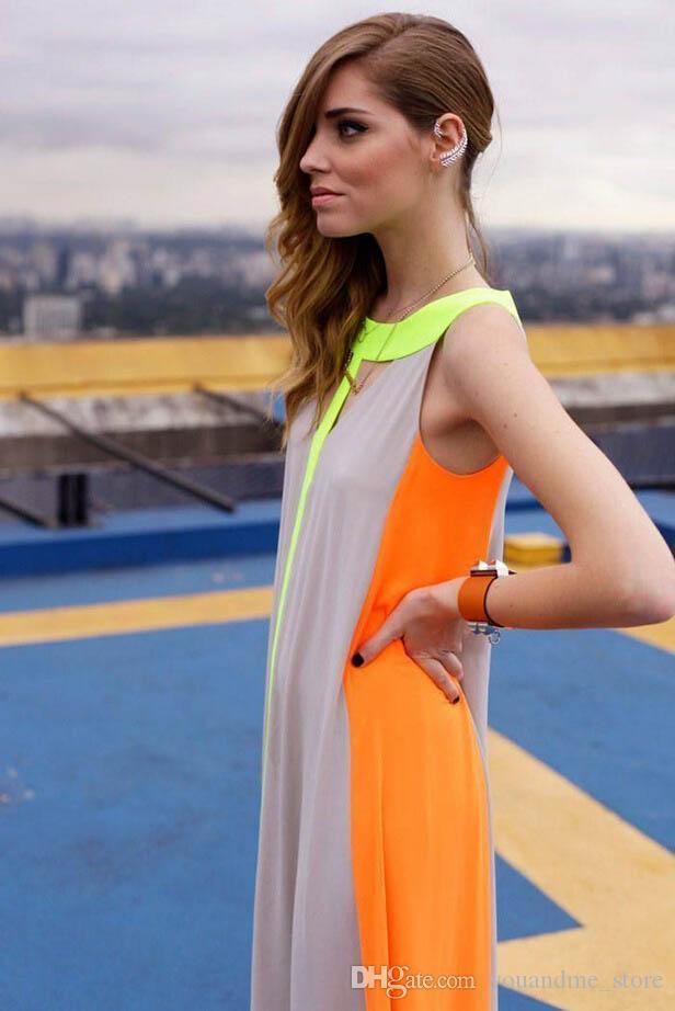 Seksi Kadınlar Elbise Vintage Yaz Kolsuz Rahat Gevşek Artı Boyutu Akşam Kulübü Parti Elbiseler Ucuz Maxi Uzun Elbise Sundress Etek C10