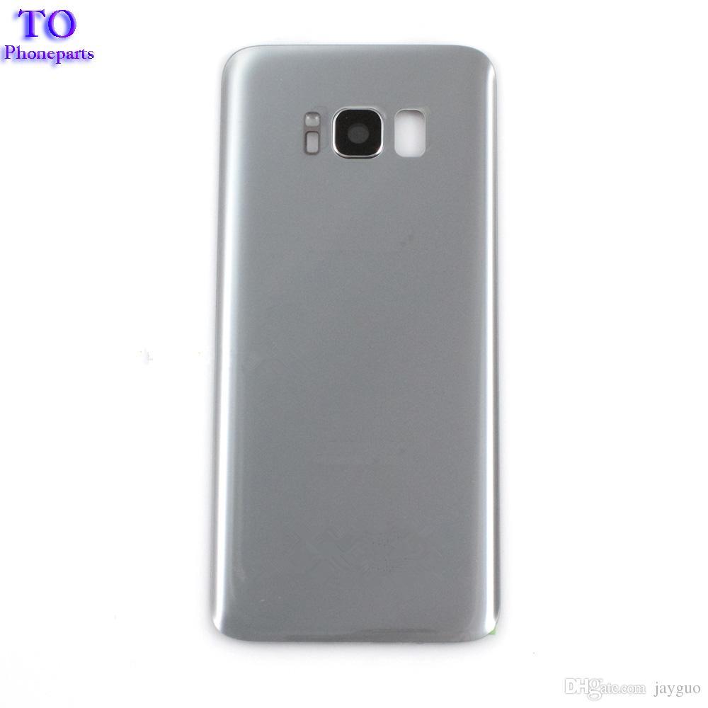 Cubierta de batería OEM Cubierta de vidrio Puerta trasera trasera para Samsung Galaxy S8 S8 Plus con lente de vidrio de cámara