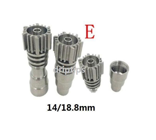 티타늄 네일 4 in 1 domeless 티타늄 네일 Titan Nail 14mm 18.8mm 남성과 여성의 조인트 유리 파이프 bong free DHL