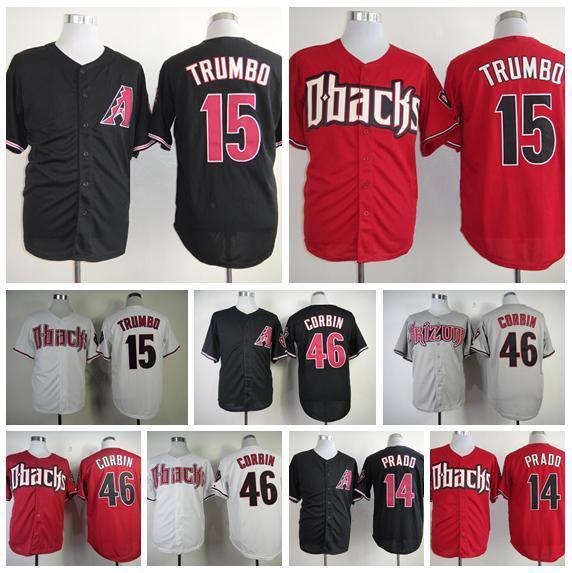 best sneakers 8a204 fbbd4 2016 New Best Quality Arizona Diamondbacks 46 Patrick Corbin Baseball  Jerseys 14 Martin Prado Baseball T-Shirts 15 Mark Trumbo Cool Ball